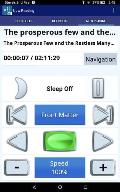 BARD Nobile navigation screen