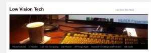 Low Vision Tech logo of large print keyboard
